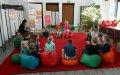 8.10.2021 Lekcja biblioteczna dla dzieci z Domowego Przedszkola w Jerzmanowicach w ramach Dyskusyjnego Klubu Książki dla dzieci