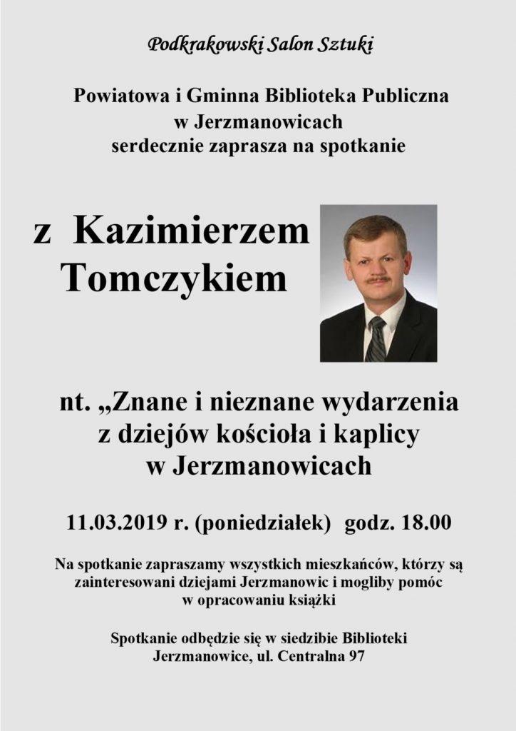 Spotkanie z Kazimierzem Tomczykiem