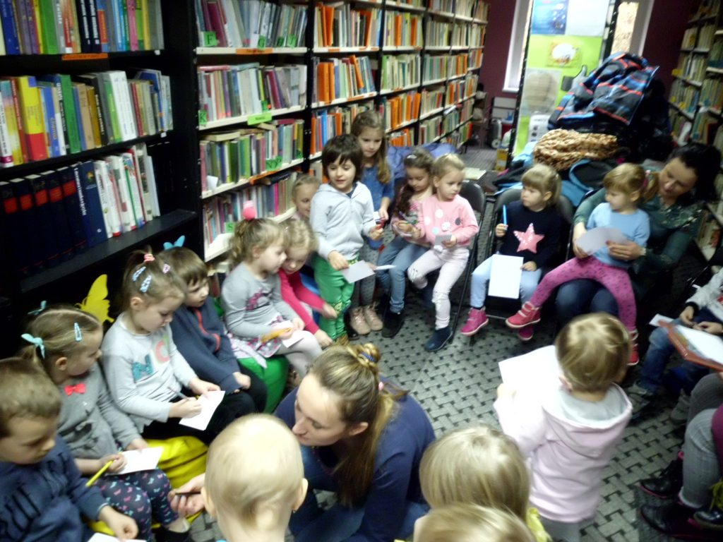 Spotkanie z przedszkolakami w Bibliotece w Sąspowie 18.03.2019
