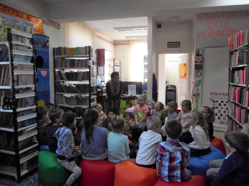 Poznajemy bibliotekę – spotkanie z przedszkolakami z Samorządowego Przedszkola w Racławicach 19.02.2019