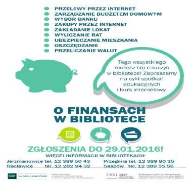 """Projekt """"O finansach… w bibliotece – IV edycja"""""""
