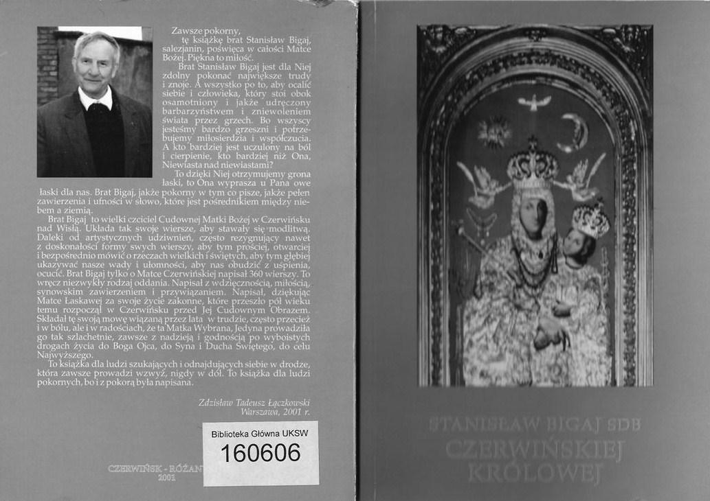 Okładka książki pt.Czerwińskiej Królowej