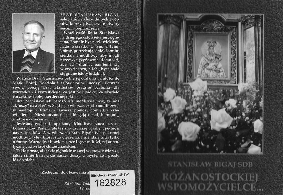 Okładka książki pt.Różanostockiej Wspomożycielce