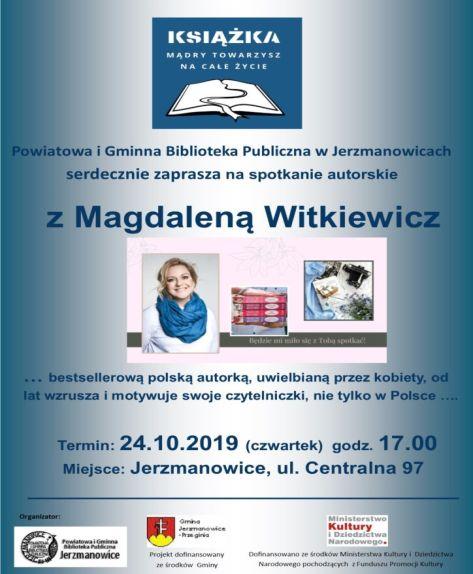 Spotkanie autorskie z Magdaleną Witkiewicz