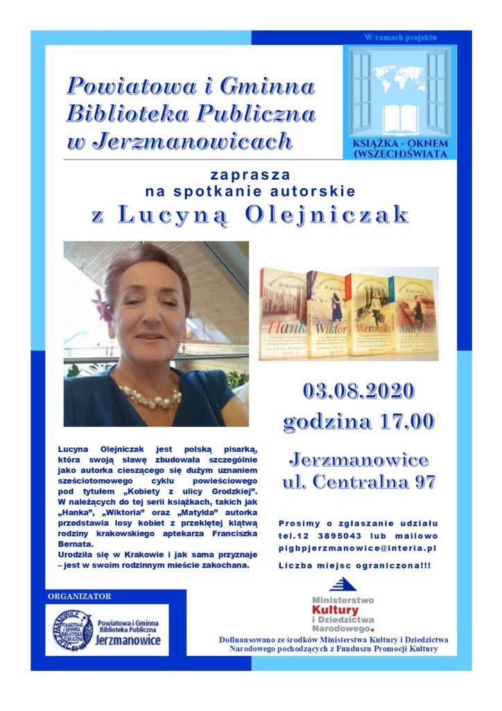 Spotkanie z Panią Lucyną Olejniczak